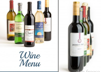 Wine Menu Photography